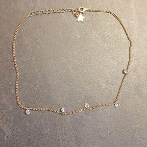 Gold Chain Rhinestone Choker